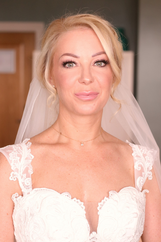 - Make Me Bridal Artist: Rachel Lindsey MUA. Photography by: Me!. #glamorous #traditional #glamourousprettyblondebridebighair #blondebride