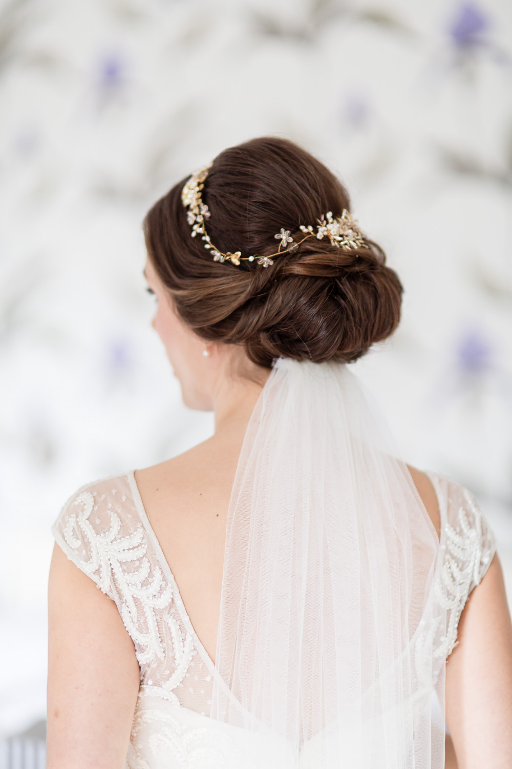 - Make Me Bridal Artist: Aridal Makeup & Hair. #updo #chignon #brunette #romantic #lowupdo