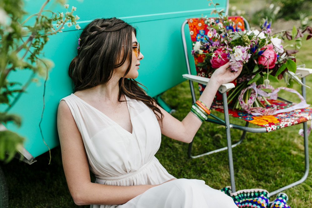 Another Boho look with Braids and Flowers - Make Me Bridal Artist: Kent Bridal Hair.