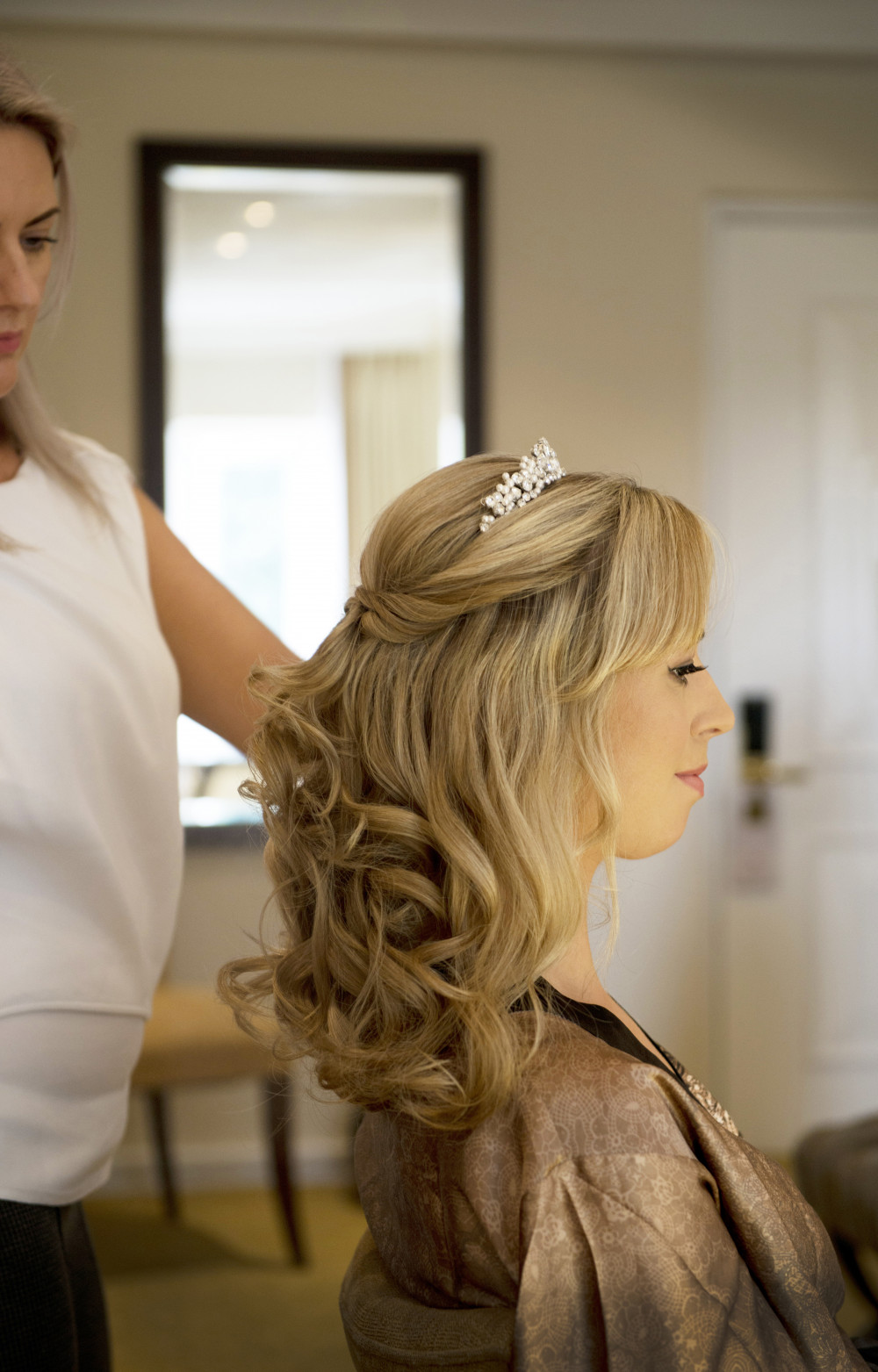 Chic Half-Up - Make Me Bridal Artist: Kent Bridal Hair.