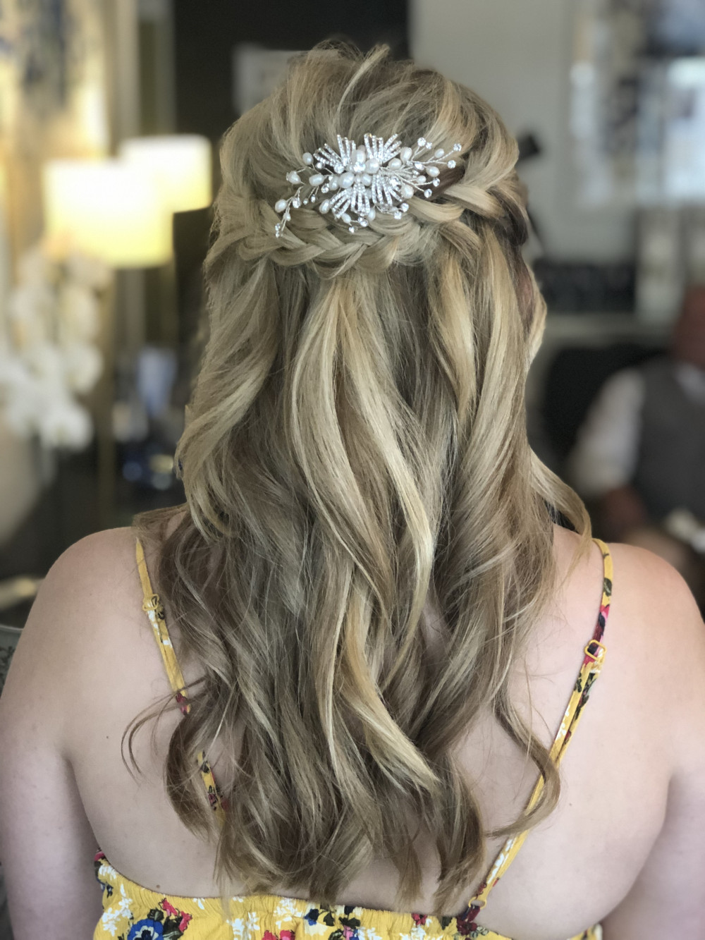 - Make Me Bridal Artist: Flaming Bride. #flowersinherhair #boho #halfuphair #bohowaves