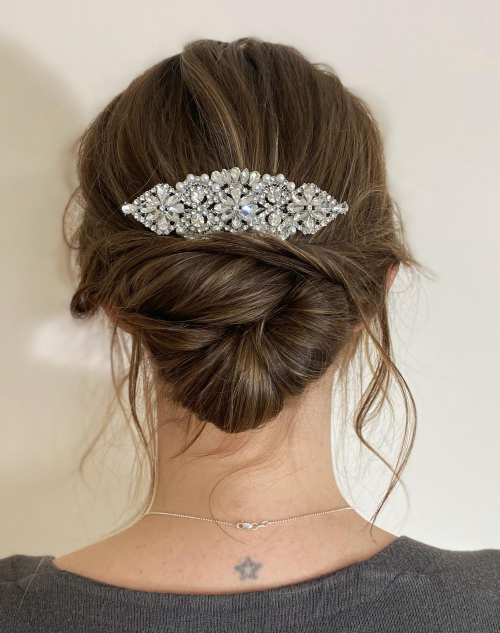 - Make Me Bridal Artist: Flaming Bride. #bohemian #messybun #lowbun #bohobride