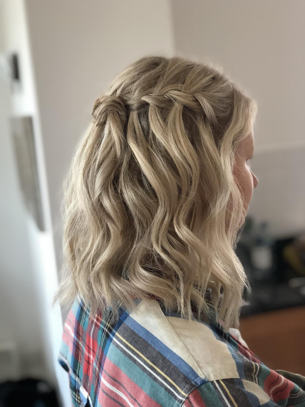 - Make Me Bridal Artist: Flaming Bride. #blonde #bridalhair #londonwedding #halfuphalfdown #waterfallbraid