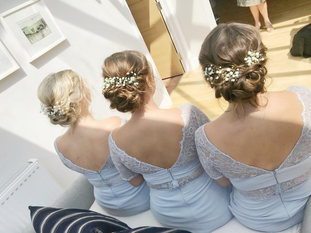 Beautiful bridesmaids hair - Make Me Bridal Artist: Ewelina Kaminska . Photography by: Myself. #bohemian #romantichairup #bridesmaidhair