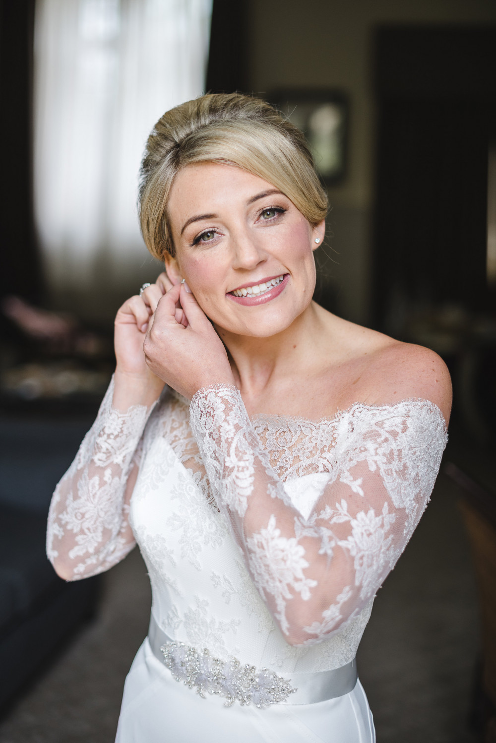 Beautiful Bride Lauren at The Slaughters Manor House in the stunning Cotswolds. - Make Me Bridal Artist: Niki Lawrence Professional Makeup Artist. Photography by: nicola and glen . #bridalmakeup #weddingmakeup #cotswoldsmakeupartist #cotswoldswedding
