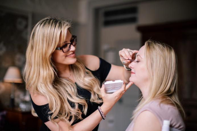 Me at work! - Make Me Bridal Artist: Lee O'D Makeup & Hair. Photography by: Nisha Haq. #bridalmakeup #makeup #weddingmakeup #makeupartist #mua #leeod