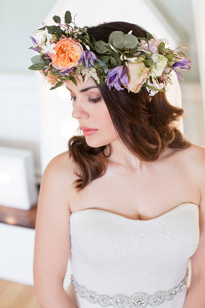 - Make Me Bridal Artist: Catherine Bailey Make-up Artist & Hair Stylist. Photography by: Olivia Parker Scott. #flowercrown