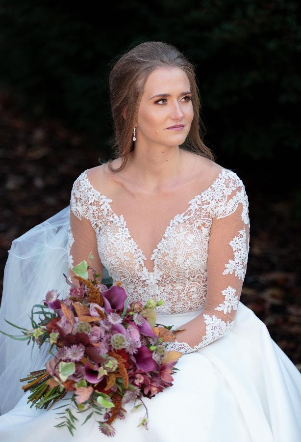 Venue - Larmer Tree  Hair - Grace Bailey Dress - Minster Bridal - Make Me Bridal Artist: Tasha Parker Make Up Artist. Photography by: Ann Aveyard. #bohemian #boho #bohobride #autumnwedding