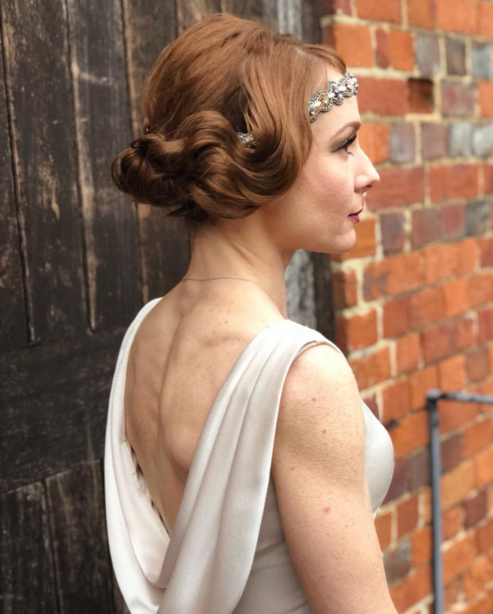 I absolutley loved creating this simply stunning 1920s look on this beautiful bride. - Make Me Bridal Artist: Kerry Ingham MUA. #vintage