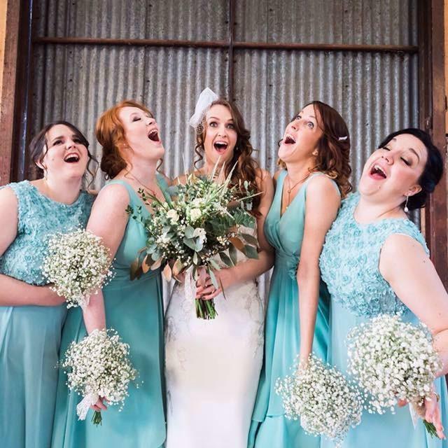 Sian and her ladies! - Make Me Bridal Artist: Sarah Hamilton. Photography by: Sara Beaumont.