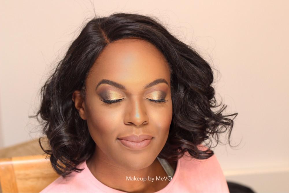 - Make Me Bridal Artist: Makeup by MeVO. Photography by: Makeup by MeVO . #glamorous #bridalmakeup #goldeyeshadow #beauty #nudelip #weddingmakeupsussex #weddingmakeup #destinationwedding #makeupartist #engaged #boldeyes #kentbridalmakeupartist #blackbride #cutcreasemakeup