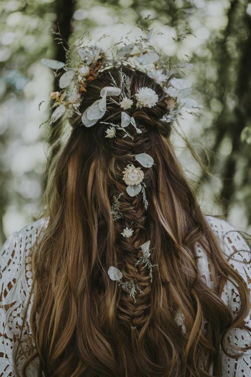 - Make Me Bridal Artist: Toni Searle Beauty. Photography by: Gemma Hicks. #bohemian #boho #fishtailbraid #festivalstyle #bohobride #botanical #botanicalbride #veganbride #festivalhair #festivalwedding #braidedhalfuphalfdown #fishtailbraid #edgyhair #alternativebride