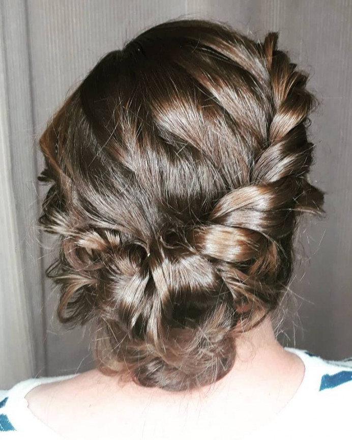 Rope braid bun - Make Me Bridal Artist: Toni Searle Beauty. Photography by: Toni Searle. #bridalhair #braidedupdo #braids #coolbride #bridesmaidhair #bridalhairstylist #plait #plaitupdo #veganbride #crueltyfreebride #vegan #veganmakeup