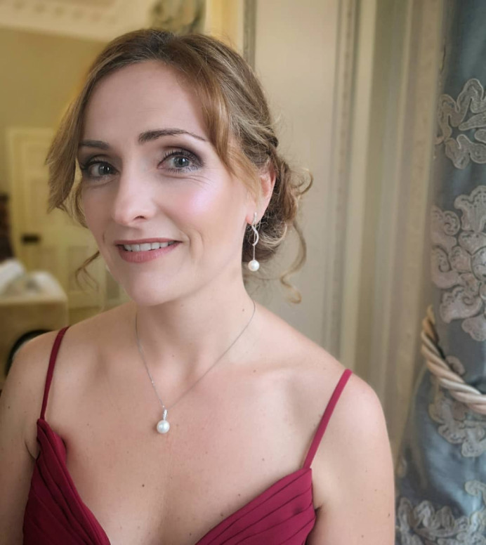 This is Lizzie, one of the lovely bridesmaids for Tessa's wedding at the stunning location that is Tylney Hall. Bridal booking secured by Adele Rosie, with me, Alice Rose Brides, assisting. Hair by Adele Rosie. Make-Up by me, Alice Rose Brides. - Make Me Bridal Artist: Alice Rose Brides. #classic #naturalmakeup #hairup #romantichair