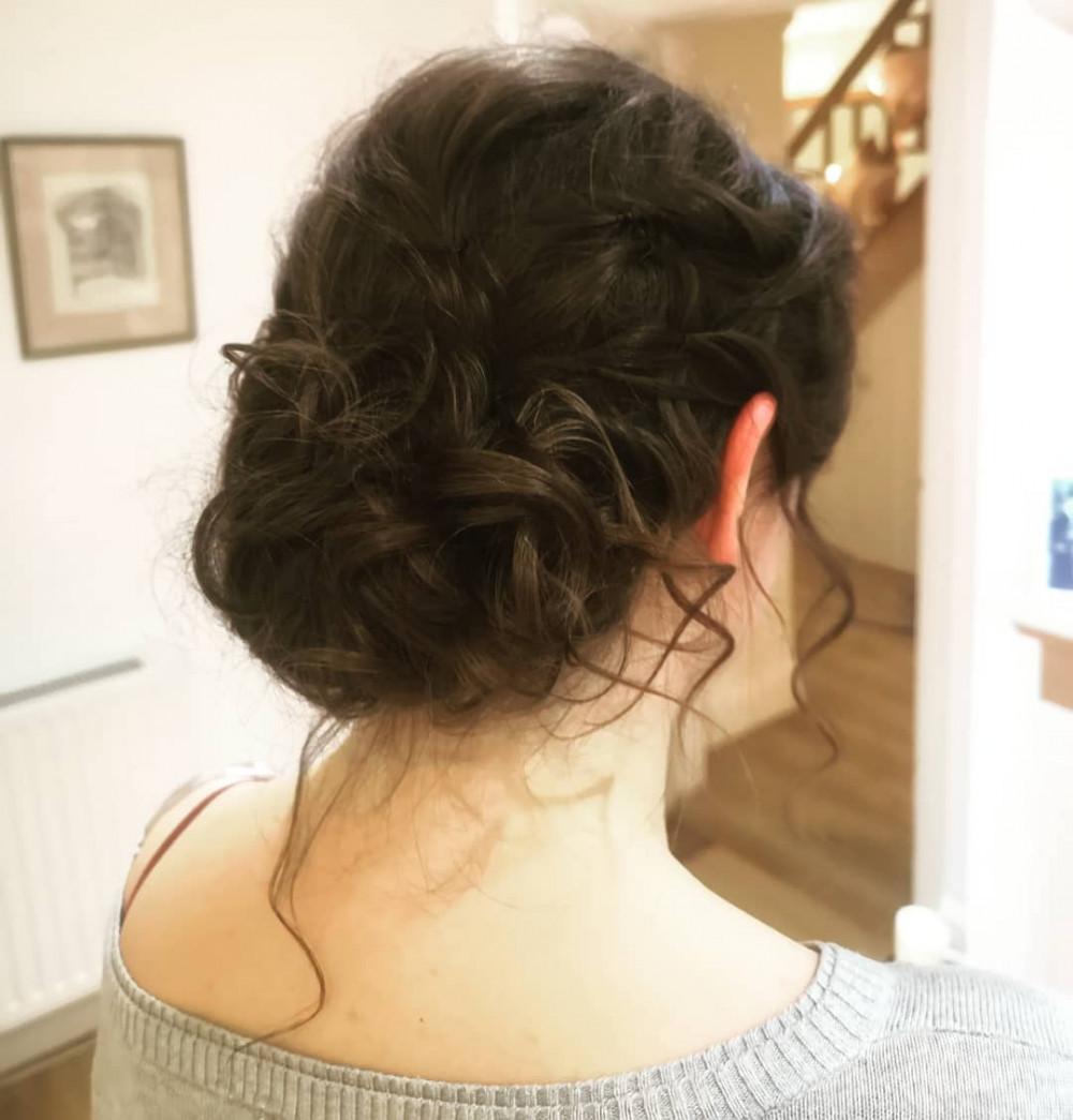 A soft, romantic curled up-do. - Make Me Bridal Artist: Alice Rose Brides. Photography by: Alice Boyle.
