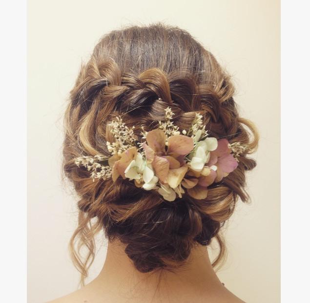 - Make Me Bridal Artist: Hair and makeup by Alice Derbyshire. #boho #flowersinherhair #hairup #bohobride #waterfall