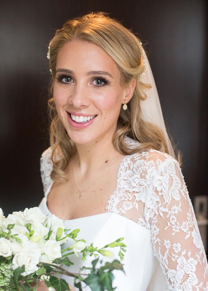 Makeup by Pamela & Andrea. - Make Me Bridal Artist: House Of Thabiso. #classic #naturalmakeup #halfuphair #blonde #bridalmakeup #glow #perfectmakeup #cleanbeauty #vintage #glamorous