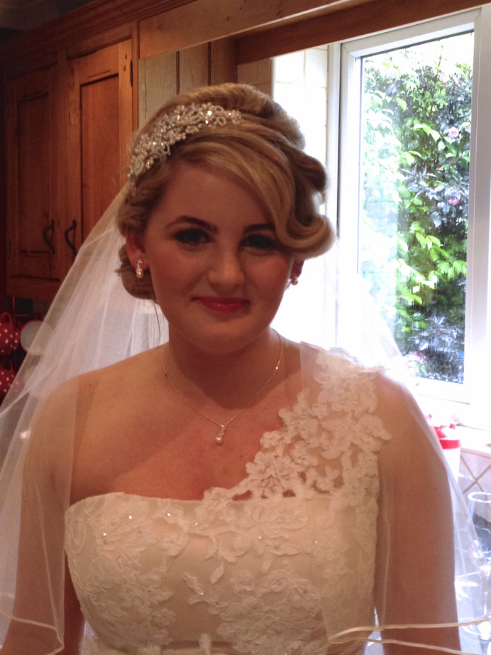 Both Hair & Make up created by SHBridal - Make Me Bridal Artist: Susan Hunter Bridal Hair & Makeup.