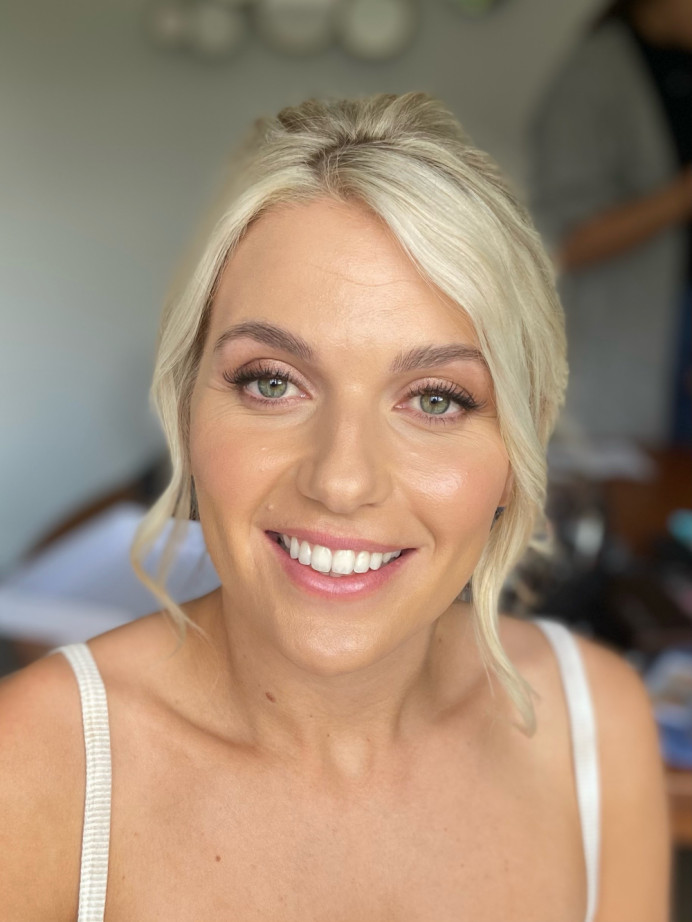 Natural radiant makeup and hair - Make Me Bridal Artist: Jessica Makeup and Hairstyling. #bridalmakeup #glow #fresh #lashes #weddingmakeup #glowingskin #surreymakeupartist #hampshiremakeupartist