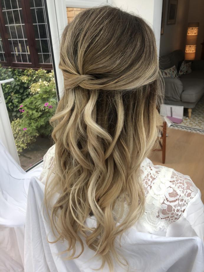 - Make Me Bridal Artist: Hair & Makeup By Emma. #bohemian #glamorous #boho #halfuphair #curls #romantichairup