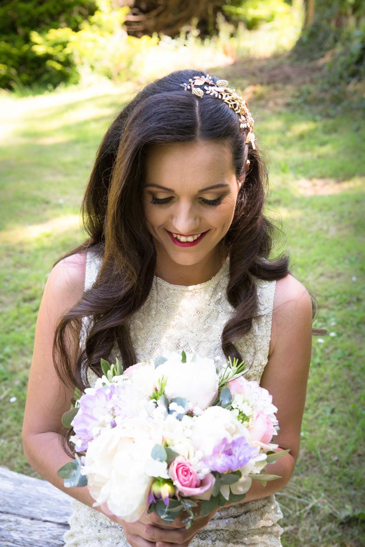 - Make Me Bridal Artist: Lily of the Valley hair design. Photography by: Linda Woodrow. #classic #glamorous #bridalhair #elegant #weddinghair #bridalhairstylist #waves #photoshoot