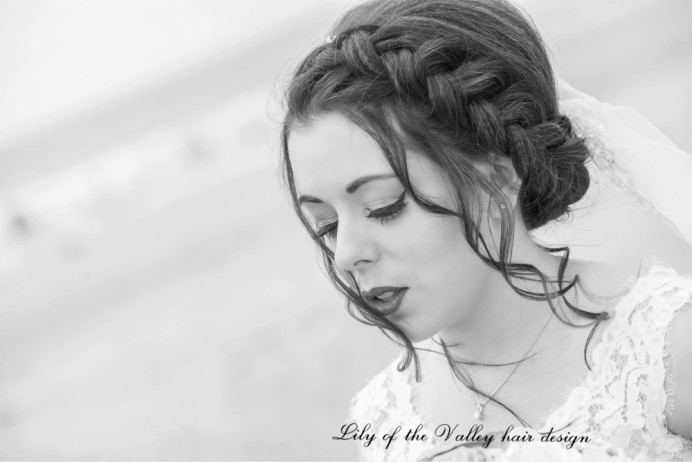 - Make Me Bridal Artist: Lily of the Valley hair design. #boho #bridalhair #brunette #braidedupdo #bridalhairstylist