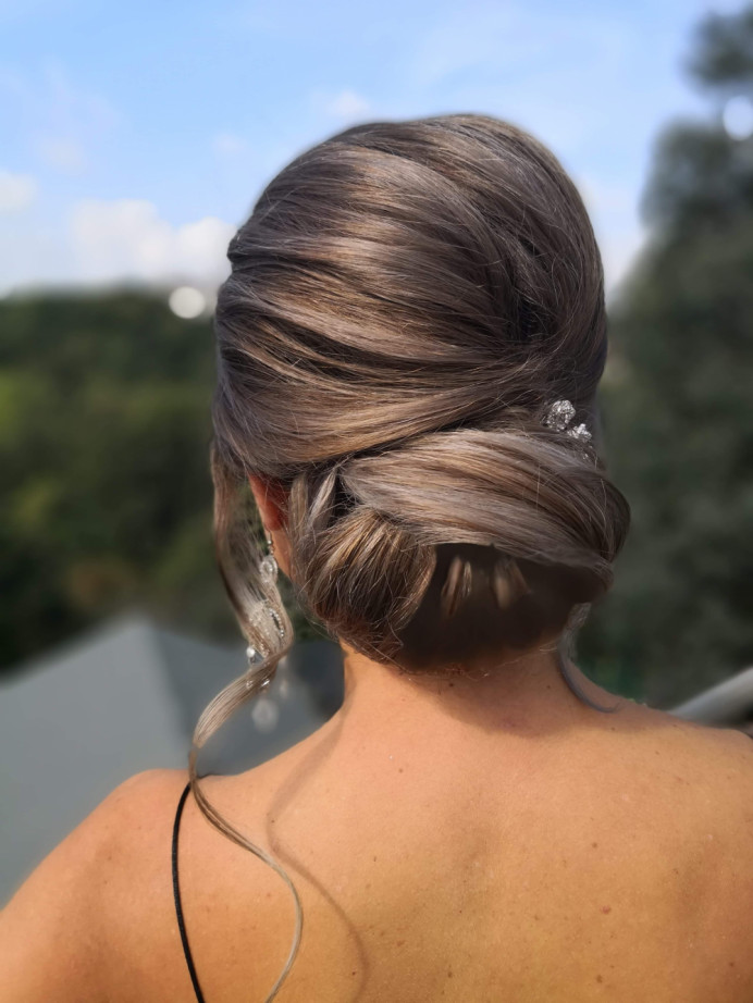 - Make Me Bridal Artist: Lily of the Valley hair design. #classic #weddingmorning #bridalhair #updo #chignon #elegant #lowupdo #lowbun #bride