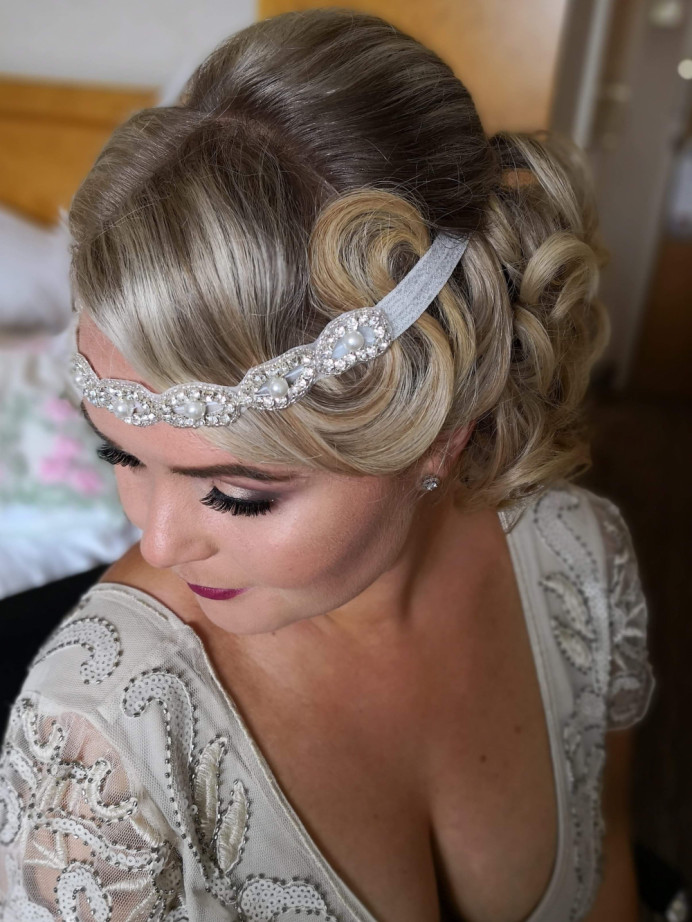 - Make Me Bridal Artist: Lily of the Valley hair design. #vintage #glamorous #blonde #glow #elegant #weddinghair #bridalhairstylist #weddingguests #gatsby