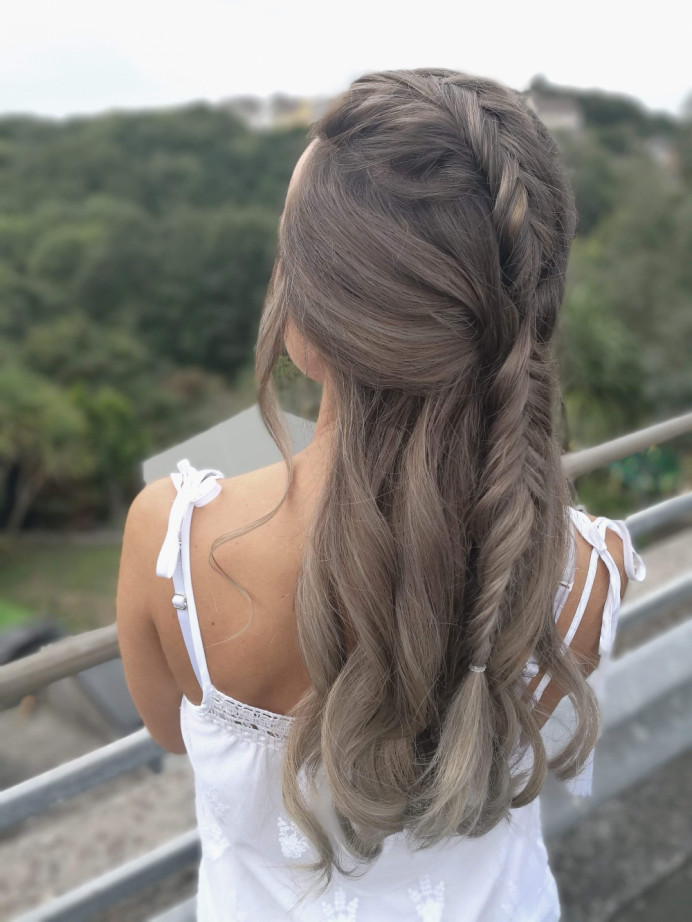 - Make Me Bridal Artist: Lily of the Valley hair design. #boho #pretty #fresh #braid #bridesmaidhair #weddinghair #bridalhair #bridalhairstylist