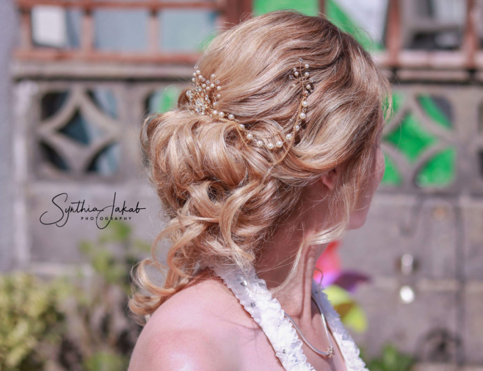 - Make Me Bridal Artist: Lily of the Valley hair design. #bohemian #blonde #hairvine #bridalhair #lowupdo #romantichairup #messybun #bridalhairstylist #motherofthebridal