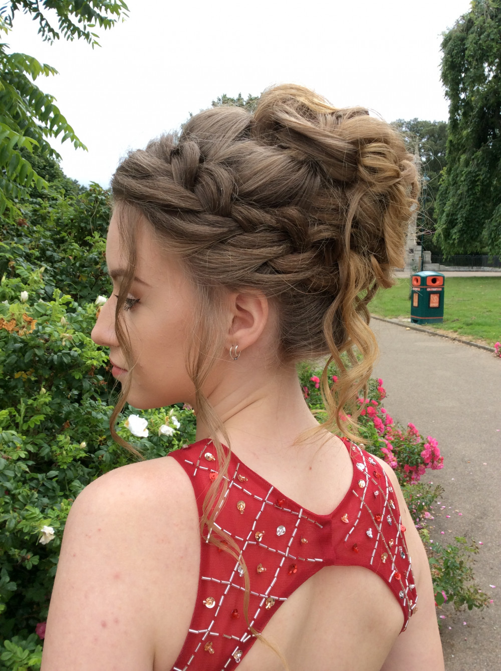 - Make Me Bridal Artist: Lily of the Valley hair design. #blonde #updo #elegant #romantichairup #messybun #bridesmaidhair #weddinghair #fishtailbraid #bridalhairstylist #plaits