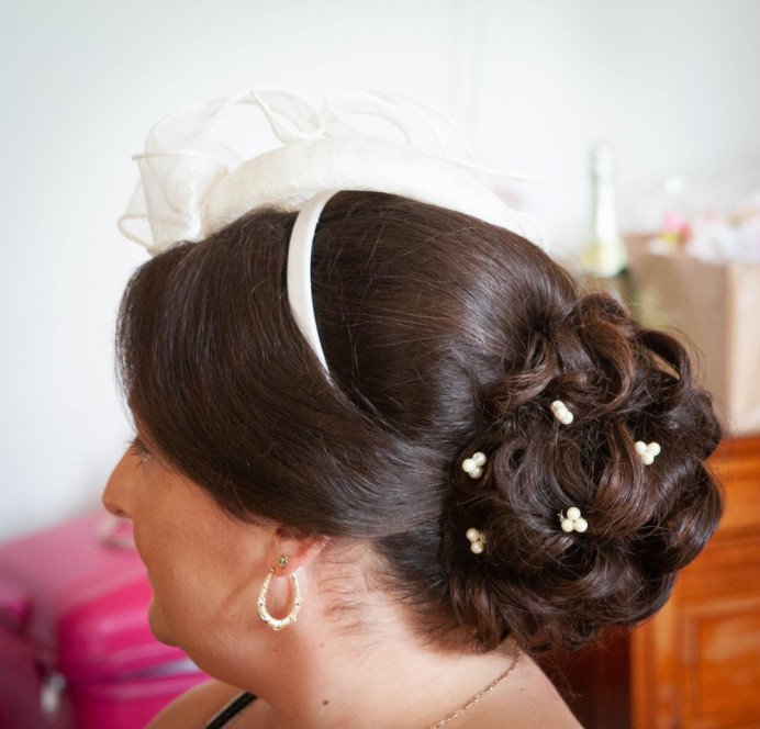 - Make Me Bridal Artist: Lily of the Valley hair design. #classic #updo #elegant #brunette #lowupdo #lowbun #weddinghair #bridalhairstylist #motherofthebride