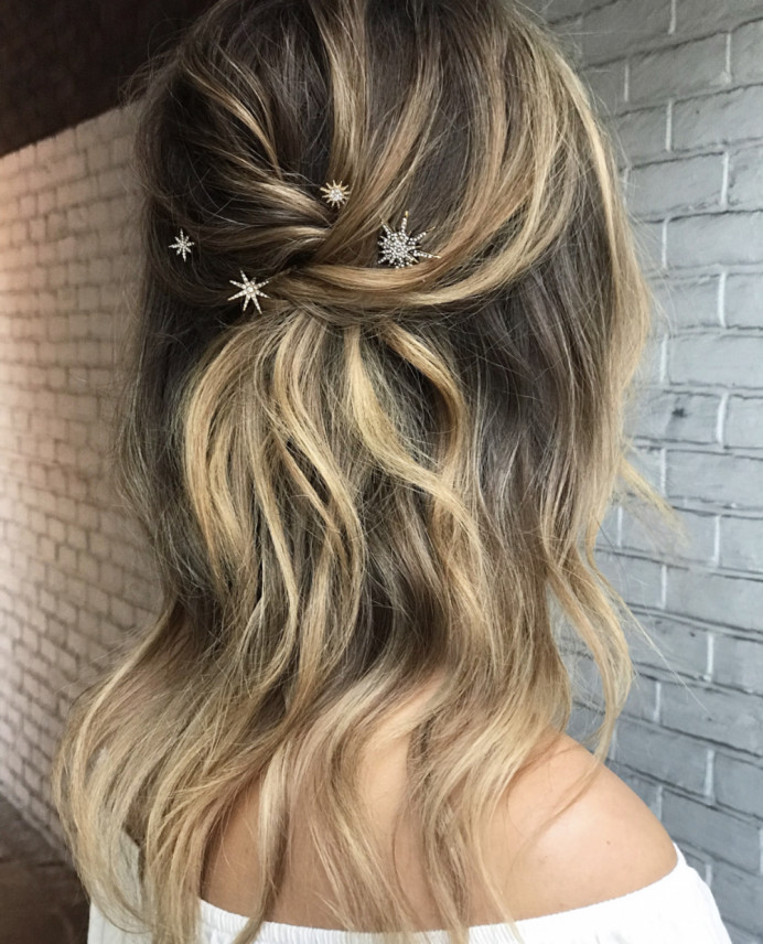 - Make Me Bridal Artist: Gavin Harvie Hair. #bohemian #halfuphair #blonde #waves #bohobride #bohowedding #bohowaves