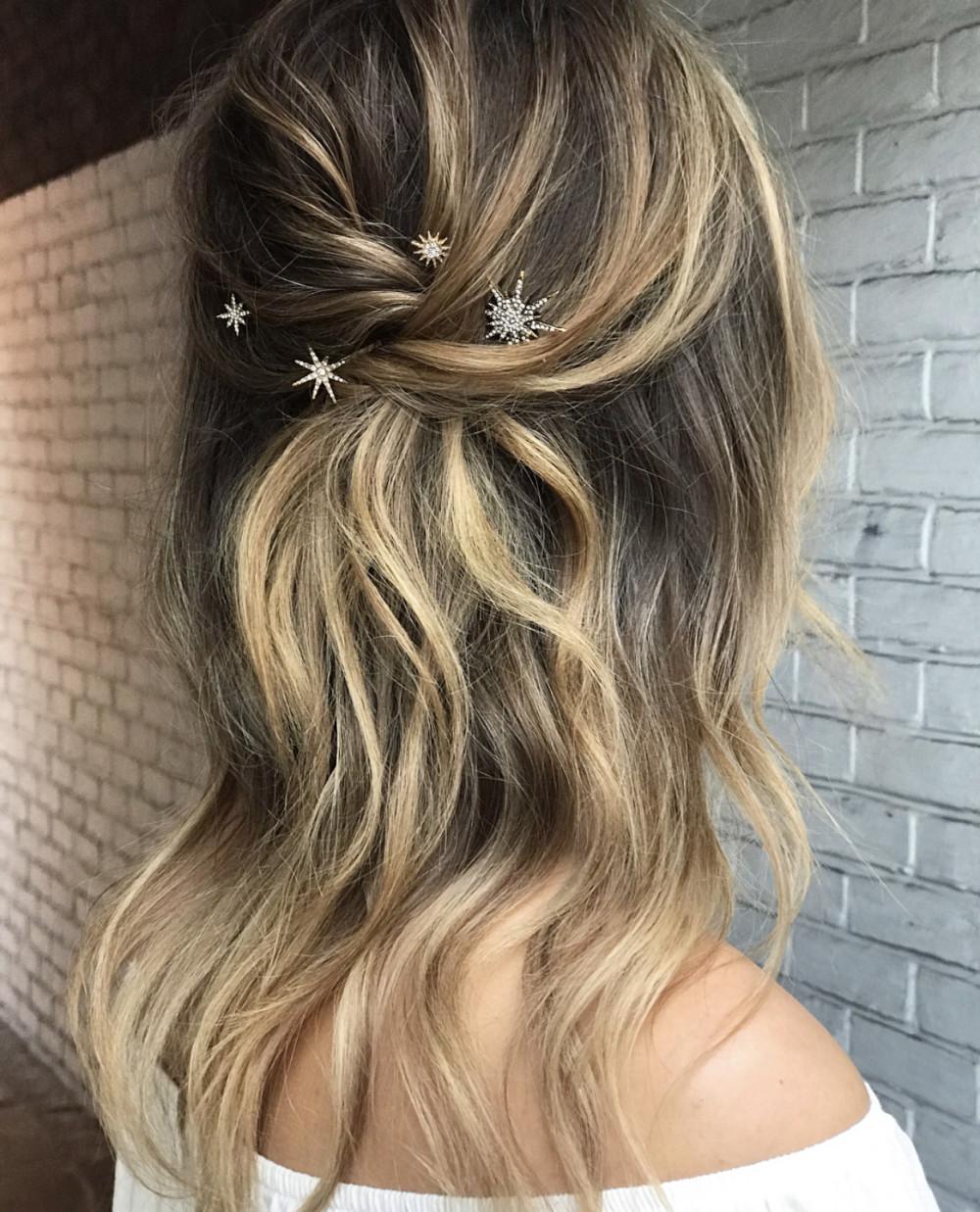 - Make Me Bridal Artist: Gavin Harvie Hair. #bohemian #halfuphair #blonde #waves #bohobride #bohowedding #bohowaves
