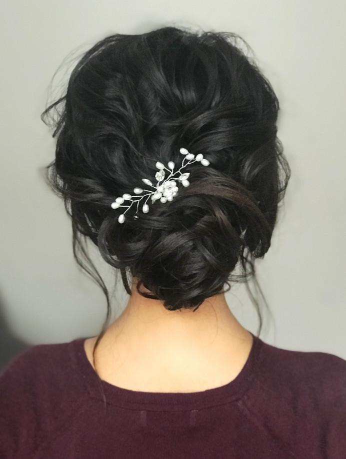 - Make Me Bridal Artist: Gavin Harvie Hair. #bohemian #classic #glamorous #boho #messybun #bohobride #texturedupdo