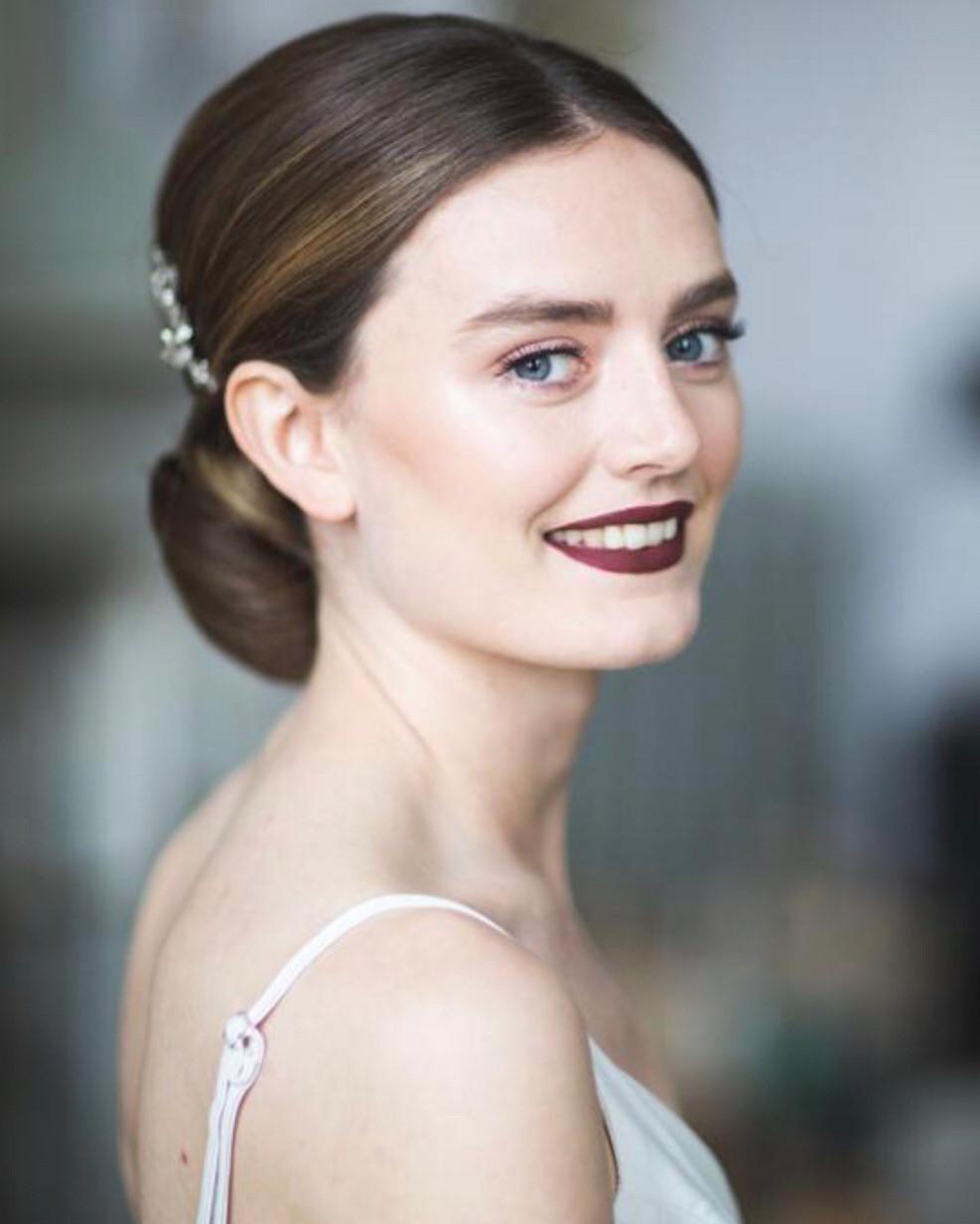 Make Up @nadiaharperbridal - Make Me Bridal Artist: Gavin Harvie Hair. Photography by: Rebecca Campbell Photography. #classic #vintage #hairup #bridalhairup #elegant #sleekupdo #elegantupdo