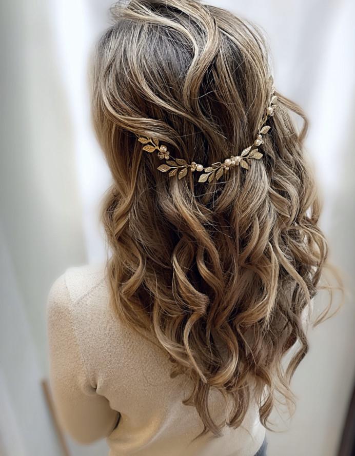 - Make Me Bridal Artist: Gavin Harvie Hair. #bohemian #bohobride #halfuphair #halfuphalfdown #bohowaves