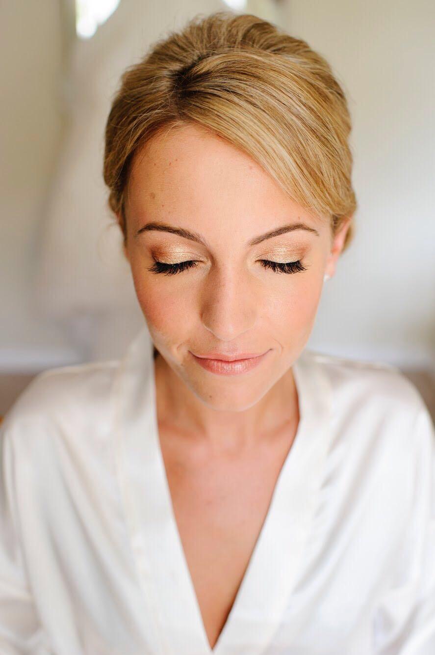 Natural makeup and express lash extensions by me - Make Me Bridal Artist: Melissa Clare Makeup & Hair. #goldeyeshadow #naturalmakeup