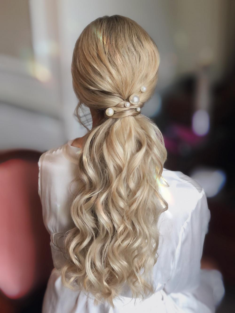 - Make Me Bridal Artist: Melissa Clare Makeup & Hair. #bohemian #boho #bohobride #chic #alternative #ponytail #bridalpony