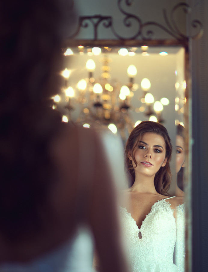 Hair and makeup by me - Make Me Bridal Artist: Melissa Clare Makeup & Hair. Photography by: Natalie D'ark. #glamorous #glow #brunette #halfuphair #freshmakeup