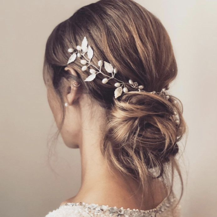 - Make Me Bridal Artist: Melissa Clare Makeup & Hair. #updo #relaxedupdo #hairvine #boho