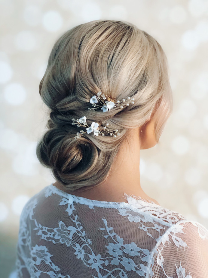 - Make Me Bridal Artist: Melissa Clare Makeup & Hair. #bohemian #updo #blonde #hairup #boho