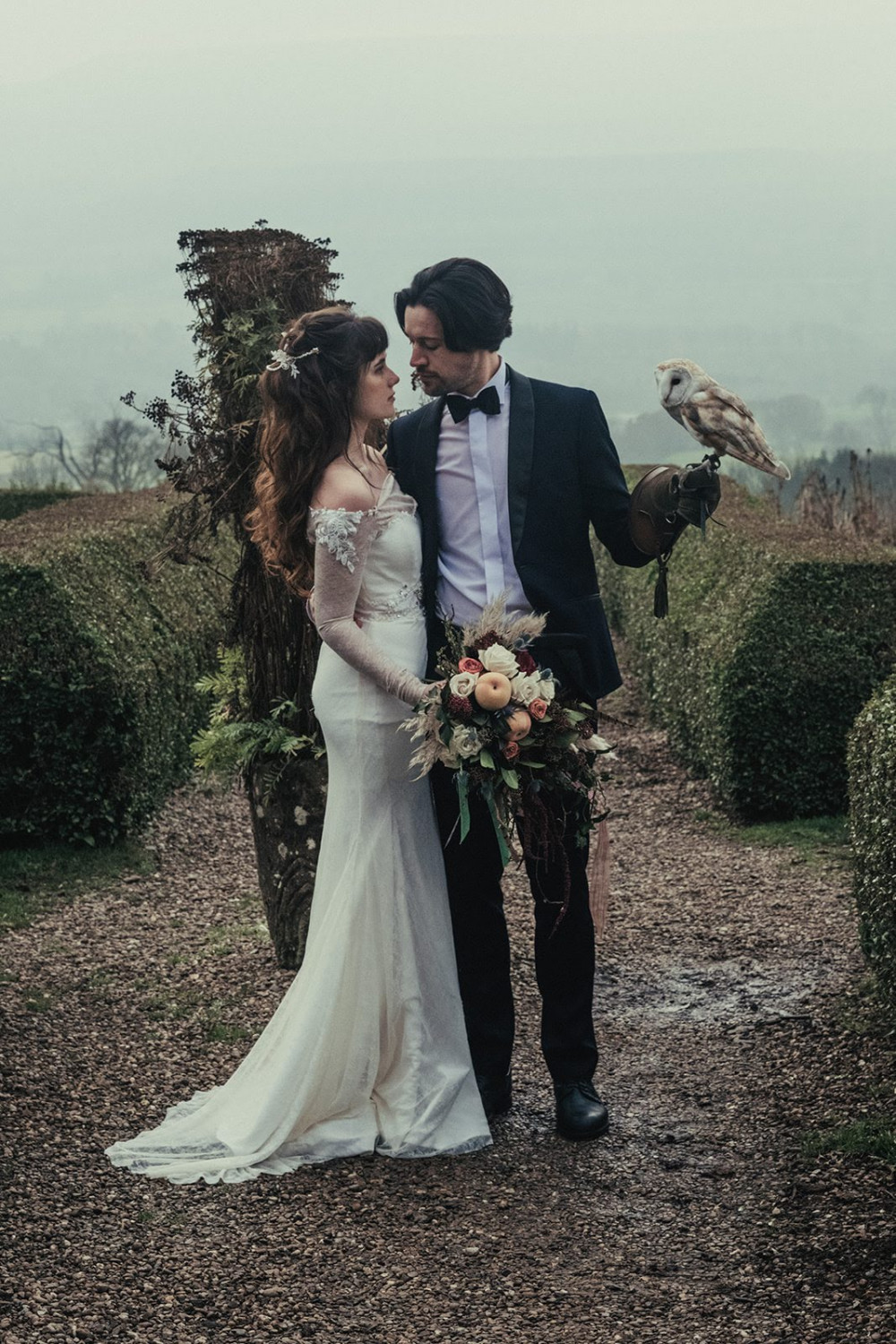 Labyrinth Inspired styled shoot, hair & make up by Nicola. - Make Me Bridal Artist: Nicola Whitfield MUA. Photography by: Keiron Paul Photography. #naturalmakeup #halfuphair #hairvine #bridalmakeup #styledshoot