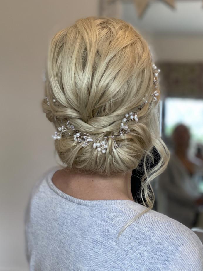 - Make Me Bridal Artist: Ema Bridal makeup. #bohemian #blonde #bridalhair #updo
