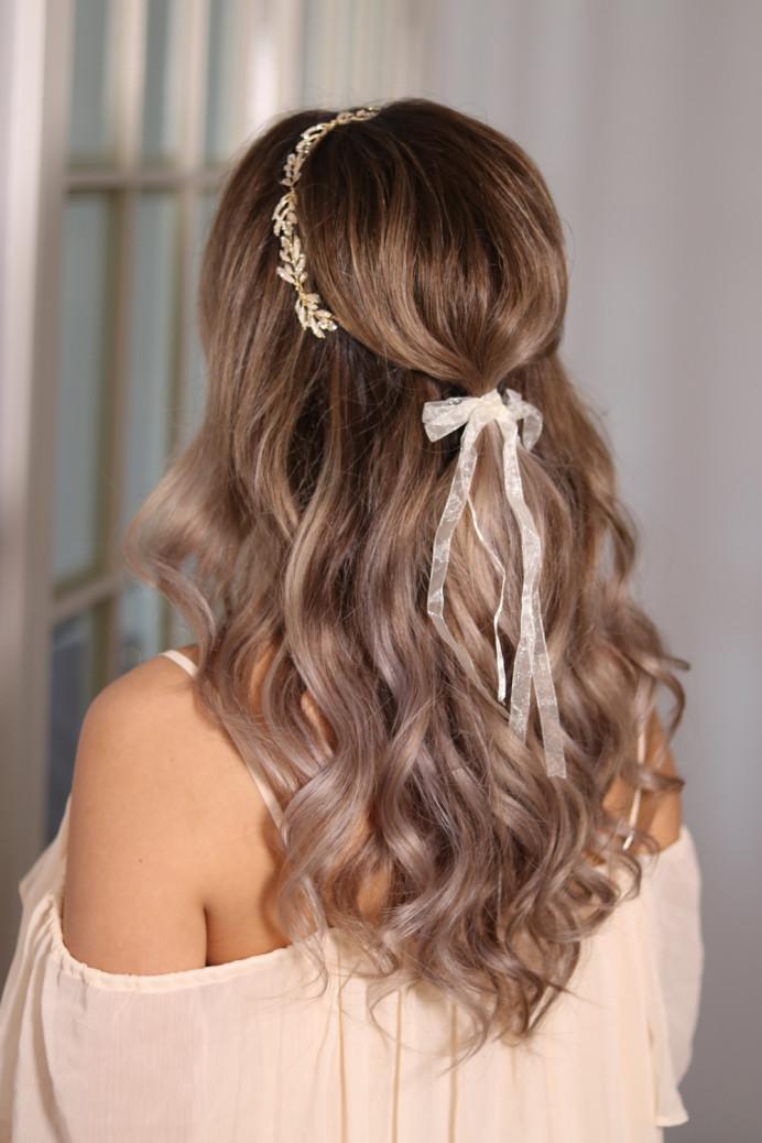 - Make Me Bridal Artist: Ema Bridal makeup. #bohemian #boho #halfuphair #curls #bridalhair