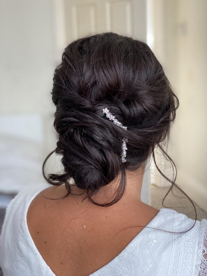 - Make Me Bridal Artist: Ema Bridal makeup. #bohemian #boho #bridalhair #tousled