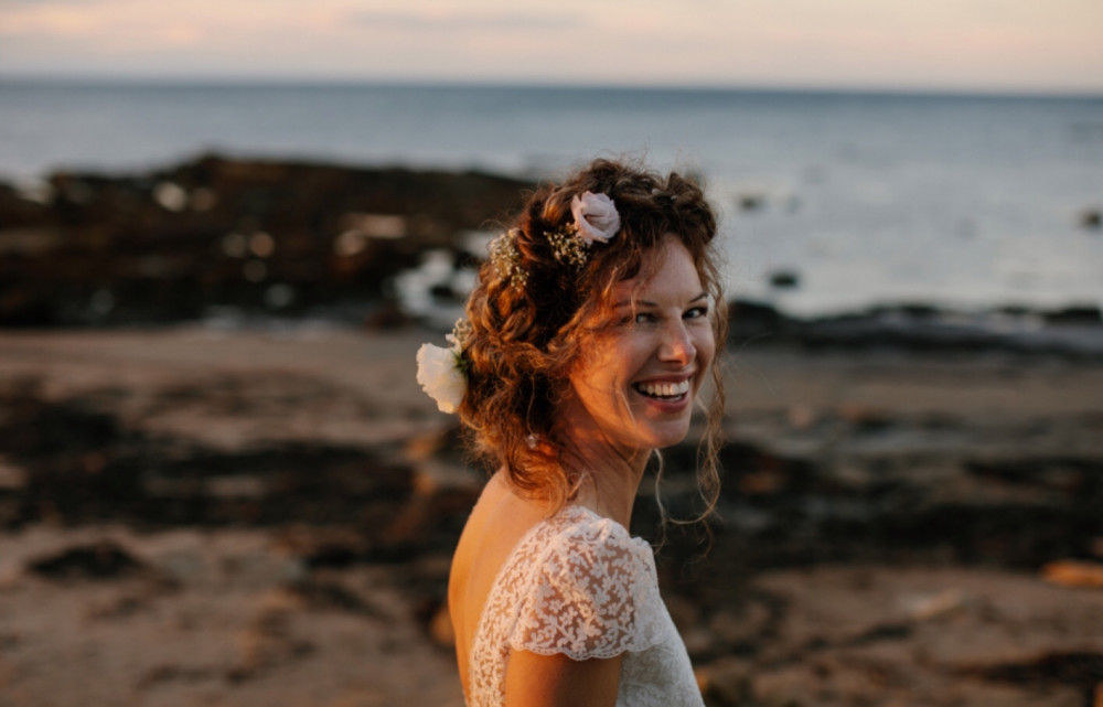Gorgeous Bride Katy was married at Cambo Estate. I did the makeup and Julie McGuire Hairstylist did her hair. The estate in close to a beach near St Andrews, just the most beautiful place ever. - Make Me Bridal Artist: Mairi Gordon MUA. #boho #flowercrown #naturalmakeup