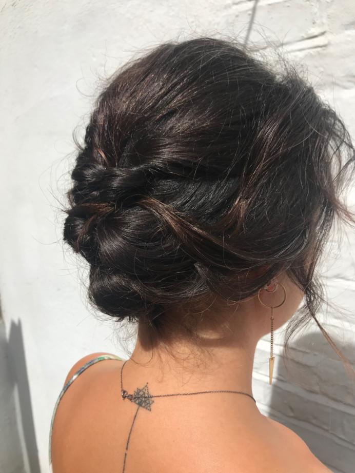 - Make Me Bridal Artist: Kat Sykes. #hairup #twistedupdo #bohohair