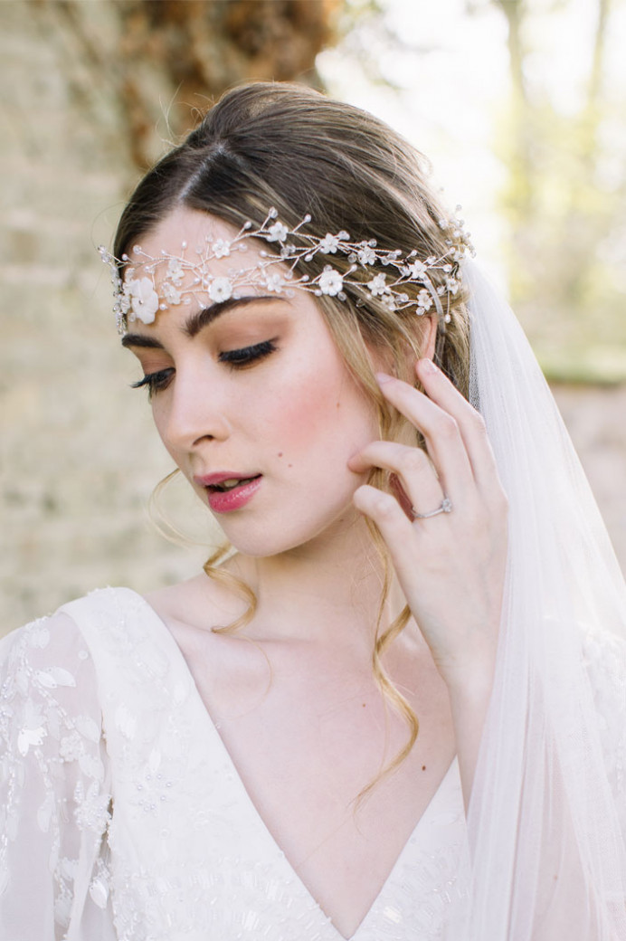 Featured on 'Brides Up North' blog - Make Me Bridal Artist: Julia Jeckell Hair and Make-up Artist. Photography by: Aden Preist. #bohemian #boho #hairvine #vintage