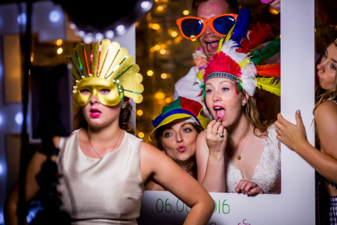 These guys really knew how to let there hair down and have a party. It was such a treat to work with them. After all the votes and formalities where over this is what happened with a wild dressing up and reworking of the smooth bridal look with a big punch of colour to the lips and feather all round. - Make Me Bridal Artist: Willow De La Roche. Photography by: Anna. #bohemian #boho #colourful #bridalparty